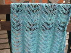 Ravelry: Lacy Feather and Fan Pattern free crochet pattern by A. Westbrook- looks like a scarf of stole?