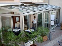 Progetto Creazione Veranda In Alluminio e Vetro Mod Technal | Idee Infissi e Carpenteria In Alluminio