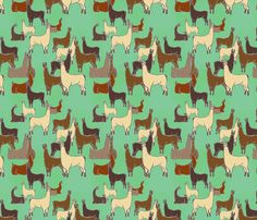 Llotsa Llama fabric by rima on Spoonflower - custom fabric