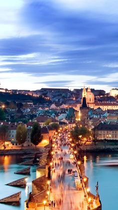 A beautiful city over ten centuries old, Prague's bridges, cathedrals, gold-tipped towers and church domes are reflected in the swan-filled Vltava River. Done