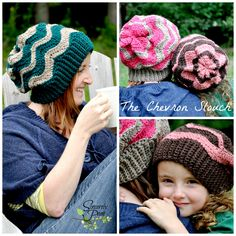 Chevron Slouch Pattern by Sincerely Pam! www.facebook.com/sincerelypam