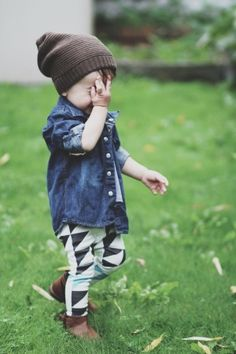 little dude in denim.