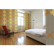 Warm up a room with cozy, knit look argyle wallpaper! Argyle Wallpaper | Detroit Wallpaper Company