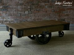 Inspired by the mill carts of the Industrial Revolution the Reclaimed Mill Cart Coffee table is handcrafted from salvaged structural timbers. Signature saw marks adorn the piece; finished with bespoke metal work.  Indigo craftsmen painstakingly remove metalwork from the beams including truss plates, nails, brads and bolts whilst maintaining the significant integrity and character of the timber. Indigo is proud to capture an age of British manufacturing excellence in each piece of reclaimed…