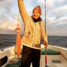 Slow jigging master..!! 1kg squid 🐙
