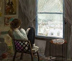 Even if I paint beautiful snowflakes every day When it snows really I am deprived of everything from the window to the reality Even if Girl Wallpaper, Cartoon Wallpaper, Bear Wallpaper, Pretty Art, Cute Art, Alone Art, Reading Art, Digital Art Girl, Anime Scenery