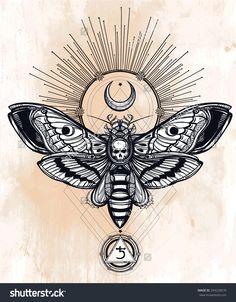 stock-vector-death-s-head-hawk-moth-with-moons-light-rays-geometry-lines-saturn-sign-design-tattoo-art-294220670.jpg (1250×1600)