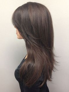 Cutting Long Hair to Medium Length - New Hair Frisure .- Cut long hair to medium length # layered cut # bob # self-cut # long # medium length - Long Layered Haircuts, Straight Hairstyles, Cool Hairstyles, Layered Hairstyles, Hairstyles 2016, Evening Hairstyles, Glamorous Hairstyles, Hairstyle Ideas, Long Layered Hair With Side Bangs