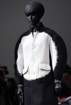 Sculptural Fashion - coat with circular silhouette; conceptual fashion design // Anrealage Fall 2015