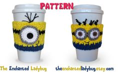 PDF PATTERN Crochet Minion Coffee Cup por TheEnchantedLadybug, $4,95