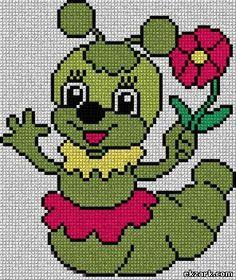 ♥♥ Free Cross Stitch Charts, Cross Stitch Baby, Cross Stitch Animals, Cross Stitch Patterns, Kids Knitting Patterns, Loom Patterns, Baby Knitting, Crochet Patterns, Cat Cross Stitches