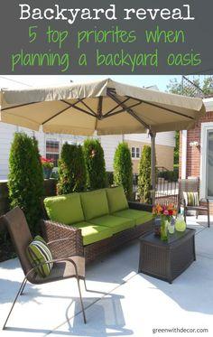 Outdoor Decor – 5 top priorities when you design a backyard oasis