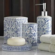 hidden potential the best in powder room design bathrooms to covet pinterest powder room design powder room and room - Blue White Bathroom Accessories