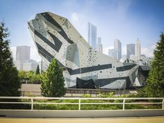During Chicago's frequent thunderstorms, employees at the Maggie Daley Playground in Chicago can take shelter inside this climbing structure, thanks to its lightning protection system. Lightning Rod, Take Shelter, Climbing Wall, Thunderstorms, Playground, Chicago, Public, Park, Building