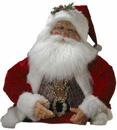 Kurt adler jacqueline kent 32-in. red & gold-tone half santa christmas decor on shopstyle.com