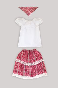 Traditional Jamaican Bandana Skirt And Blouse Outfit The