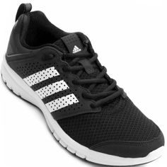 03a86621dcde6 Tênis Adidas Madoru Masculino Preto   Branco