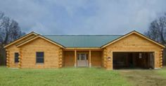 $60,150 Pre-Cut Log House Shell. This is The Stonewall Log Home