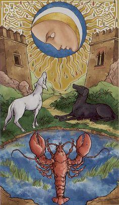 XVIII. The Moon: Universal Wirth Tarot, a project by Giordano Berti