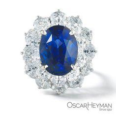 Nothing quite like a 20ct sapphire double entourage ring from Oscar Heyman. #OscarHeyman #sapphire #ring #entourage #highjewelry #beplatinum #gemstone #gems #couture #luxury #bijoux #instagem #madeinamerica