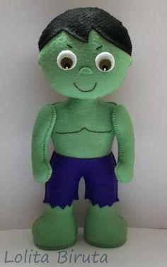 Hulk from felt Felt Fabric, Fabric Dolls, Paper Dolls, February Baby, Spiderman, Batman, Felt Decorations, Homemade Toys, Felt Patterns