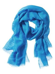 This is always nice for cooler temp and great for the plane. Also comes in pink.  Linen-Blend Scarf