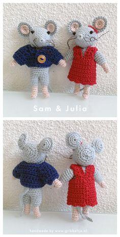 Crochet mouse - Sam  Julia van het Muizenhuis
