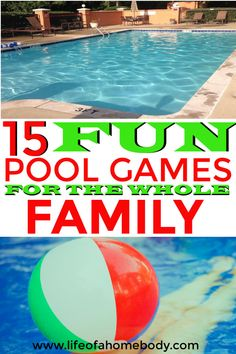 Swimming Pool Games for the whole family. Pool games for adults, teens, and kids. Swimming Pool Games, Pool Party Games, Kid Pool, Fun Games, Pool Parties, Pool Fun, Birthday Parties, Outside Games For Kids, Games For Teens