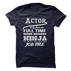 Ninja Actor T-Shirts, Hoodies. ADD TO CART ==► https://www.sunfrog.com/LifeStyle/Ninja-Actor-T-Shirt-48668582-Guys.html?id=41382