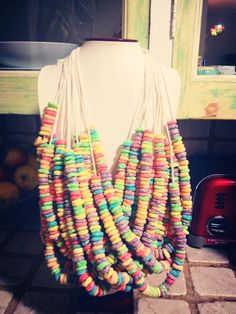 Does anyone else remember Froot Loop necklaces? Sell them at your cake stall!
