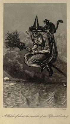 A Nostalgic Halloween: Witch Illustration
