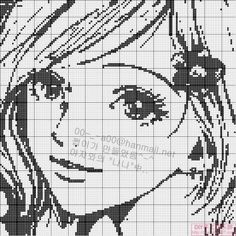 point de croix femme  - cross stitch girl,  woman