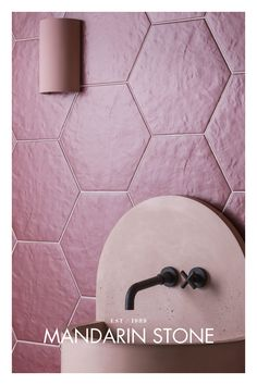 A favourite tile shape for many, hexagon floor and wall tiles add interest and character wherever used. Shop online! Pictured: Stellar Red Hexagon Tile