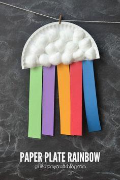 Paper Plate Rainbow Kids Craft | anightowlblog.com