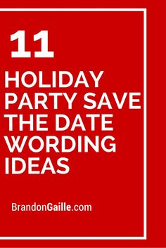 11 Holiday Party Save The Date Wording Ideas
