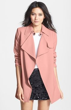 $98, Open Front Trench Coat by Mural. Sold by Nordstrom. Click for more info: http://lookastic.com/women/shop_items/91686/redirect