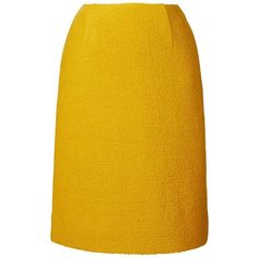 Textured Wool Pencil Skirt in Yellow Skirts & Trousers (725 BRL) ❤ liked on Polyvore featuring skirts, woolen skirt, yellow wool skirt, knee length pencil skirt, yellow skirt and orla kiely