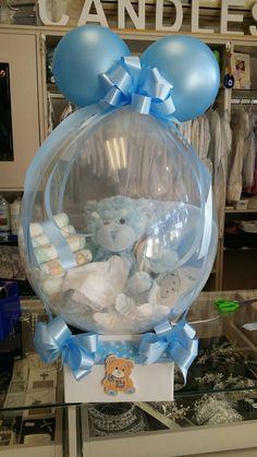 Ajándékcsomagolás léggömbe Balloon Crafts, Balloon Gift, Balloon Decorations, Birthday Party Decorations, Balloon Centerpieces, Baby Shower Decorations, Baby Shower Diapers, Baby Shower Gifts, Baby Gifts