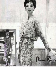 Fashion by Nina Ricci, 1950. °