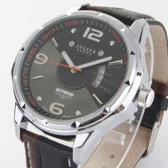 2016 new Julius brand Fashion men sports watches men's quartz genuine Leather Strap Military Army Waterproof Wrist watch - Online Shopping for Watches