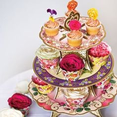host a Truly Scrumptious afternoon tea party in your own home. a pop-up cake stand with 3 pretty tiers. a truly scrumptious way to display your cupcakes. holds approximately medium size cupcakes. Gorgeous Cakes, Pretty Cakes, Vintage Cake Stands, Vintage Crockery, Afternoon Tea Parties, Mad Hatter Tea, Mad Hatters, Tea Party Birthday, Cute Cupcakes