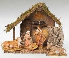 Catholic Italian made Nativity Set will make a beautiful Christmas gifts Nativity Scene Sets, Nativity Stable, Christmas Figurines, Christmas Nativity, Christmas Gifts, Holiday Checklist, Fontanini Nativity, Gift Store