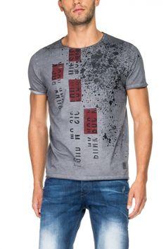Salsa Store - T-shirt 1st level com estampado lateral Camisetas Masculinas,  Estampa Masculina de24b6e82f