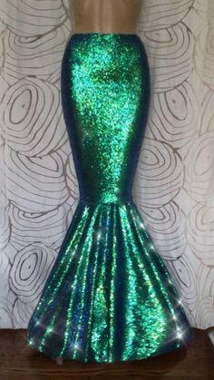 Sexy Lentejuelas Completa Disfraz Falda Cola De Sirena S M L XL para Adulto Para Mujer