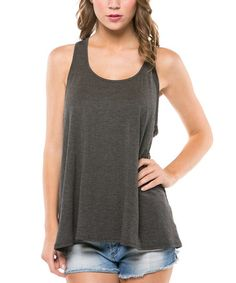 Look what I found on #zulily! Charcoal Plunge Racerback Tank by Magic Fit #zulilyfinds