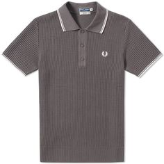 FRED PERRY LAUREL WREATH FRED PERRY REISSUES TEXTURED KNITTED POLO. #fredperrylaurelwreath #cloth #