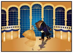 The Beauty and the Beast ballroom