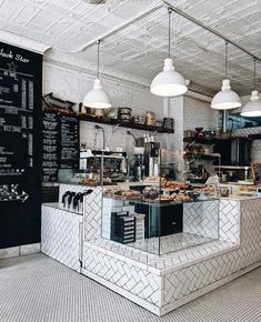 Looking for inspiration for the café? - Looking for inspiration for the café? Bakery Shop Interior, Bakery Shop Design, Restaurant Interior Design, Bakery Store, Bakery Cafe, Cafe Restaurant, Café Bistro, Coffee Bar Design, Bakery Decor