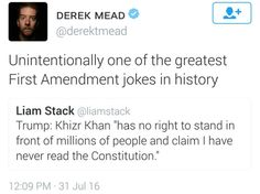 Trump doesn't understand or respect the First Amendment.