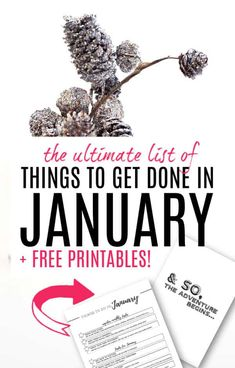 Ultimate List of Things to Do in January to Get Life Sorted - incl. Free Printables